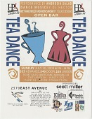 view Tea Dance [flyer] digital asset: Tea Dance [flyer], 2003.
