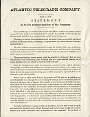 view Atlantic Telegraph Company, private statement digital asset: Atlantic Telegraph Company, private statement