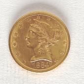 view 5 Dollars, United States, 1884 digital asset number 1