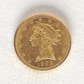 view 5 Dollars, United States, 1892 digital asset number 1