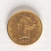 view 10 Dollars, United States, 1897 digital asset number 1