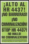 view Stop HR 4437! No Walls! No Criminalization! digital asset number 1