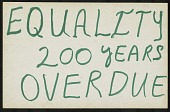 view Equality 200 Years Overdue digital asset number 1