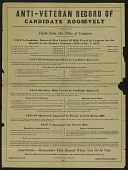 view Anti-Veteran Record Of Candidate Roosevelt digital asset number 1