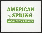 view American Spring - #OCCUPYWALLSTREET digital asset number 1