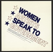 view Women Artists Speak to Government digital asset number 1