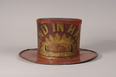 view Hand-in Hand Fire Company Fire Hat digital asset: Hand-in-Hand Fire Company Parade Hat, front