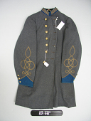 view Confederate Army Infantry Captain's Frock Coat digital asset: Coat, front.