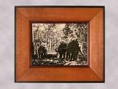 view Framed Photograph of Elephants Dragging Logs digital asset number 1