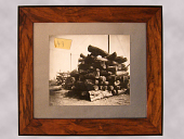 view Framed Photograph of Brazilian Walnut Logs digital asset number 1