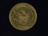 view 5 Dollars, United States, 1854 digital asset: Reverse, 1845S $5 gold coin
