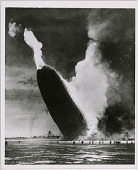 view Hindenburg Airship in Flames, Partially on the Ground digital asset number 1