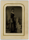 view African-American Woman digital asset: Mounted tintype portrait of African-American woman