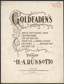 view <i>Goldfaden's for Violin</i> digital asset number 1