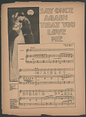 """view """"Say Once Again That You Love Me"""" Sheet Music digital asset number 1"""