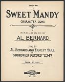 """view """"Sweet Mandy"""" Sheet Music digital asset number 1"""