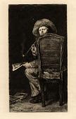 view Portrait of Frank Duveneck digital asset: Duveneck's Smoker