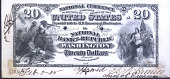 view Proof sheet for $10-10-10-20 of the National Bank of the Republic of Washington, DC, 1885 digital asset number 1