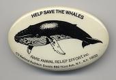 view Environmental Button digital asset: Button, R.A.R.E., 'Help Save the Whales'