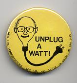 view Environmental Button digital asset: Button, 'Unplug a Watt!'