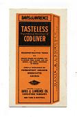 view Davis & Lawrence Tasteless Cod Liver digital asset: ink blotter, Davis & Lawrence Tasteless Cod Liver