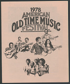 view 1978 American Old Time Music Festival digital asset number 1