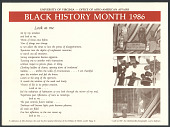 view University of Virginia - Office of Afro-American Affairs - Black History Month 1986 digital asset number 1