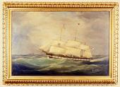 view Oil Painting, Black Ball Packet Ship <I>Isaac Webb</I> digital asset: Painting, packet ship Isaac Webb