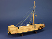 view Rigged Model, Keel Boat Packet Barge digital asset: Rigged model, keelboat packet barge