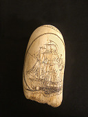 view Scrimshaw Sperm Whale Tooth, 20th Century digital asset number 1