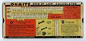 view Perrygraf Ohm's Law Calculator Slide Rule for Ohmite digital asset: Slide rule - Ohmite Ohm's Law Calculator - Front View