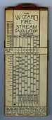 view Wizard Fire Stream Calculator Slide Rule digital asset: Slide rule - The Wizard Fire Steam Calculator