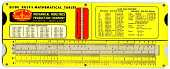 view Multi-Slide Slide Rule & Mathematical Tables digital asset: Slide Rule - Multi Slide Rule - Front View