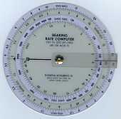 view Circular Slide Rule, Bearing Rate Computer, Felsenthal FNR-5A digital asset: Slide Rule - Bearing Rate Computer - FNR-5A