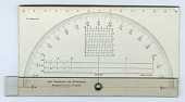 view Arm Protractor and Goniometer Invented by Samuel L. Penfield digital asset: Protractor - Penfield Arm Protractor and Goniometer
