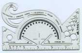 view Sterling 544 Protractor and Drawing Instrument digital asset: Protractor - Sterling 544