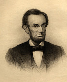view Portrait of Abraham Lincoln digital asset: Portrait of Lincoln etched by Stephen J. Ferris, 1881