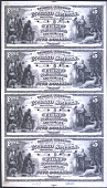 view Proof sheet for $5-5-5-5 of the First National Bank of Sheboygan, Wisconsin. 1873. digital asset number 1
