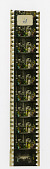 view Motion Picture Film Pieces digital asset: Piece of tinted 35mm motion picture film by Pathe Freres showing a Middle Eastern scene