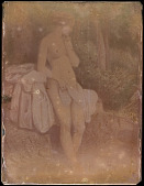 view Hillotype, print of nude woman in woods digital asset number 1