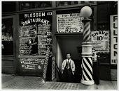 view Blossom Restaurant, 103 Bowery digital asset: Photograph by Berenice Abbott, 'Blossom Restaurant, 103 Bowery'