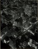 view Night Aerial View, Midtown Manhattan digital asset: Photograph by Berenice Abbott, 'Night Aerial View, Midtown Manhattan'