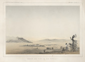 "view Chromolithograph of ""Mission and Plain of San Fernando"" digital asset number 1"