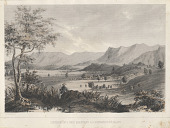 "view Lithograph of ""South End of S. Inez Mountains & S. Buenaventura Valley"" digital asset number 1"