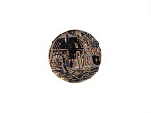 view Metal Button Depicting a Mill with Water Wheel digital asset number 1