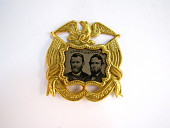 view Ulysses S. Grant Campaign Badge digital asset: medal, presidential