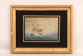 view Painting, American Brig off Cape Ann, 1845 digital asset: 'Brig Off Cape Ann'