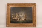 view Painting, <i>The Bon Homme Richard </i>and <i>HMS Serapis </i> digital asset: &#8216;Bonne Homme Richard and HMS Serapis&#8217;