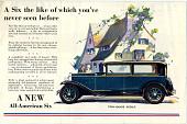 view 1929 Oakland sedan digital asset: Illustrated sales brochure, 1929 Oakland Sedan