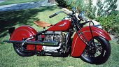 view Indian Motorcycle digital asset: 1941 Indian brand motorcycle, photograph provided by donor